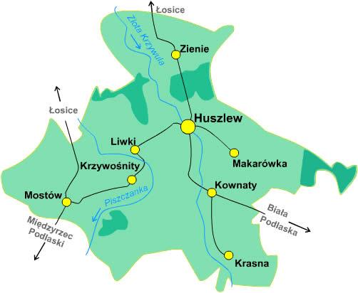 huszlew mapa